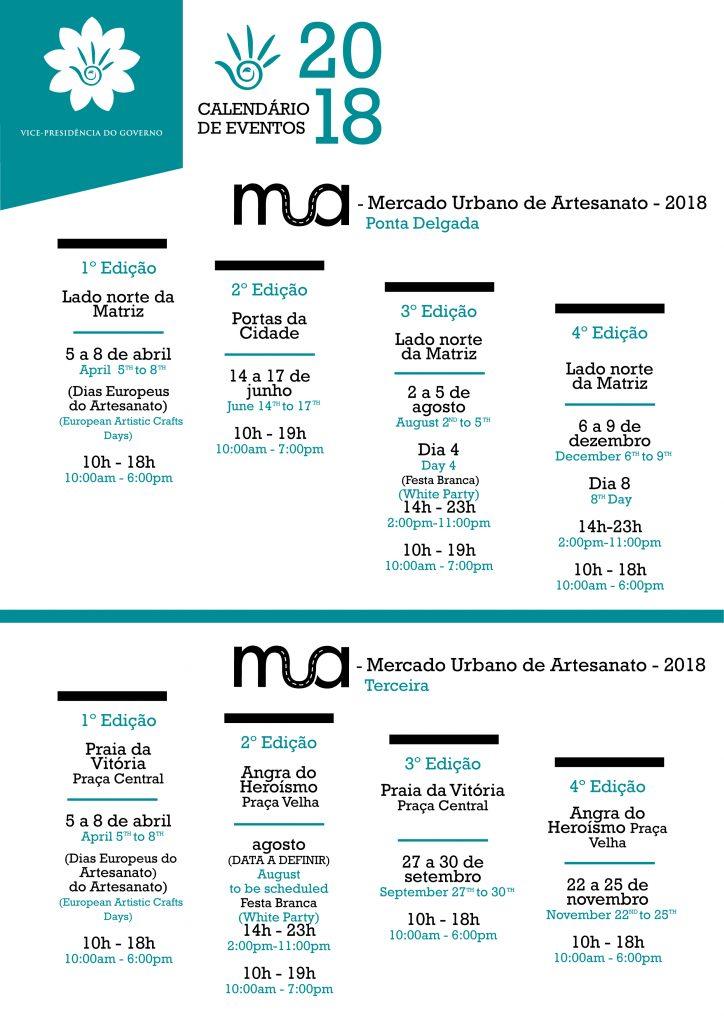 calendario eventos MUA 2018