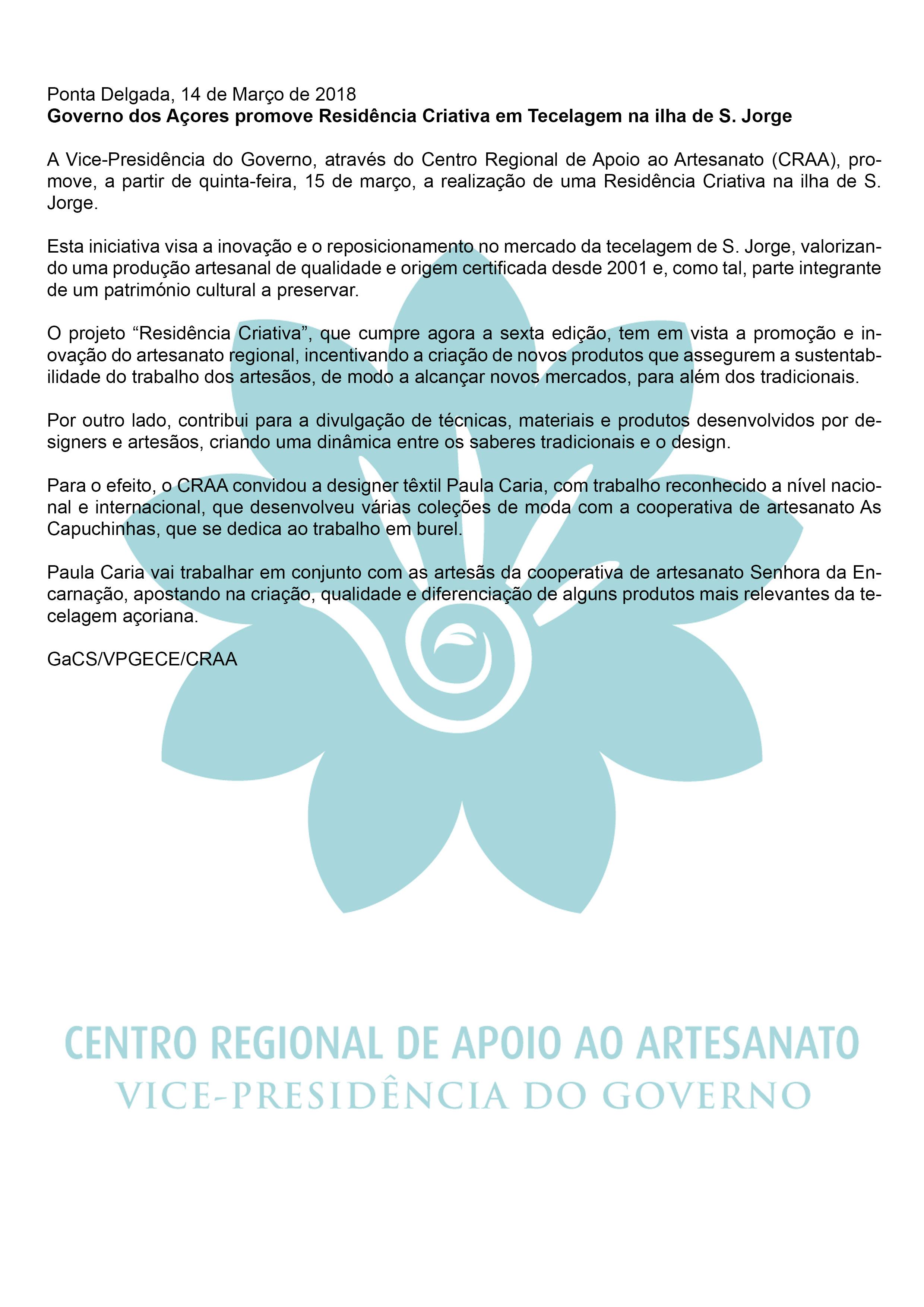 governo dos acores promove residencia criativa em tecelagem sjorge pt